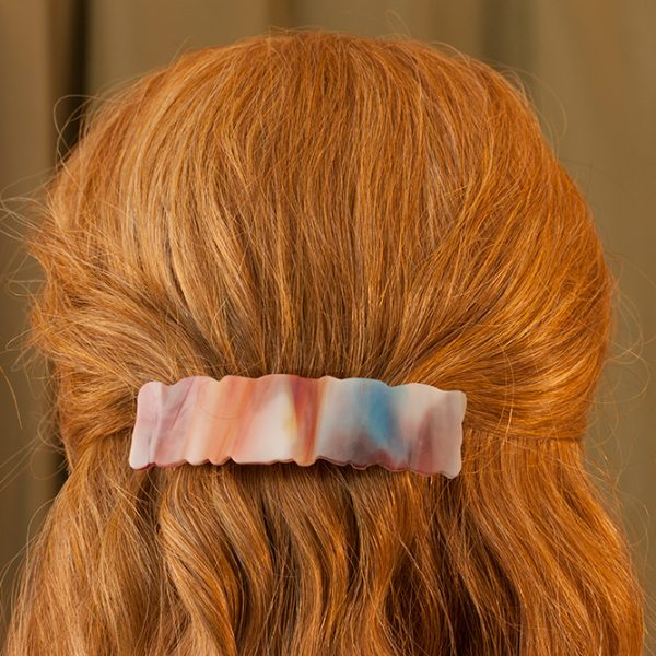glass hair clip weathered multicolored